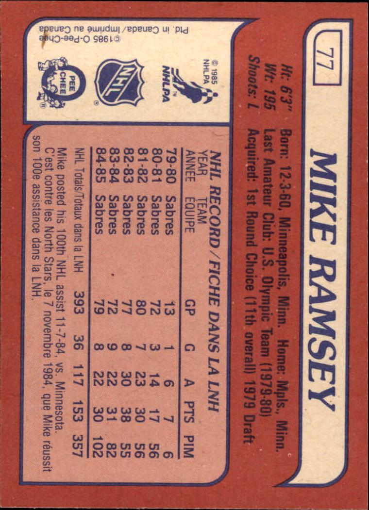 1985-86-Topps-Hockey-Base-Singles-Pick-Your-Cards thumbnail 73