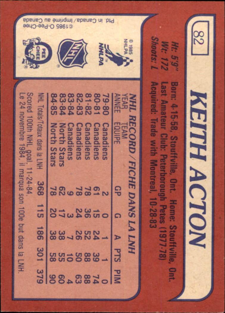 1985-86-Topps-Hockey-Base-Singles-Pick-Your-Cards thumbnail 77