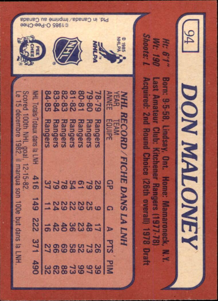 1985-86-Topps-Hockey-Base-Singles-Pick-Your-Cards thumbnail 85