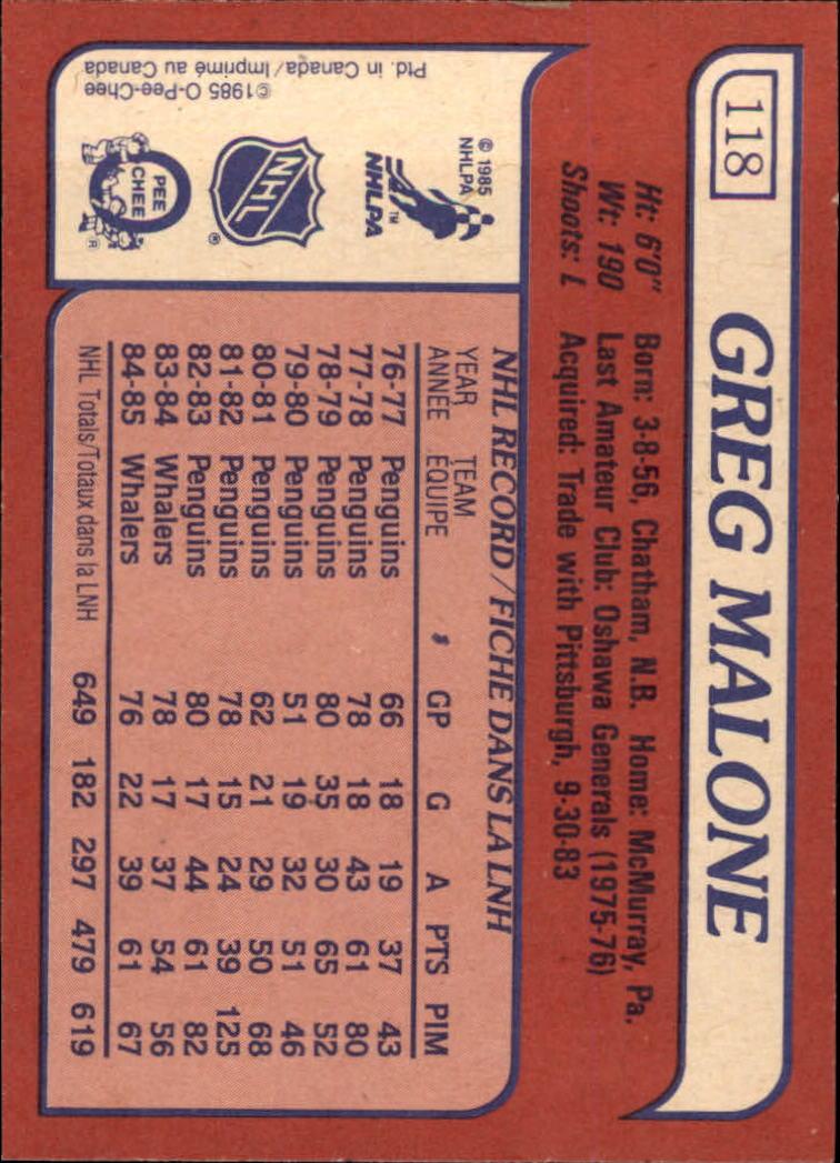 1985-86-Topps-Hockey-Base-Singles-Pick-Your-Cards thumbnail 107