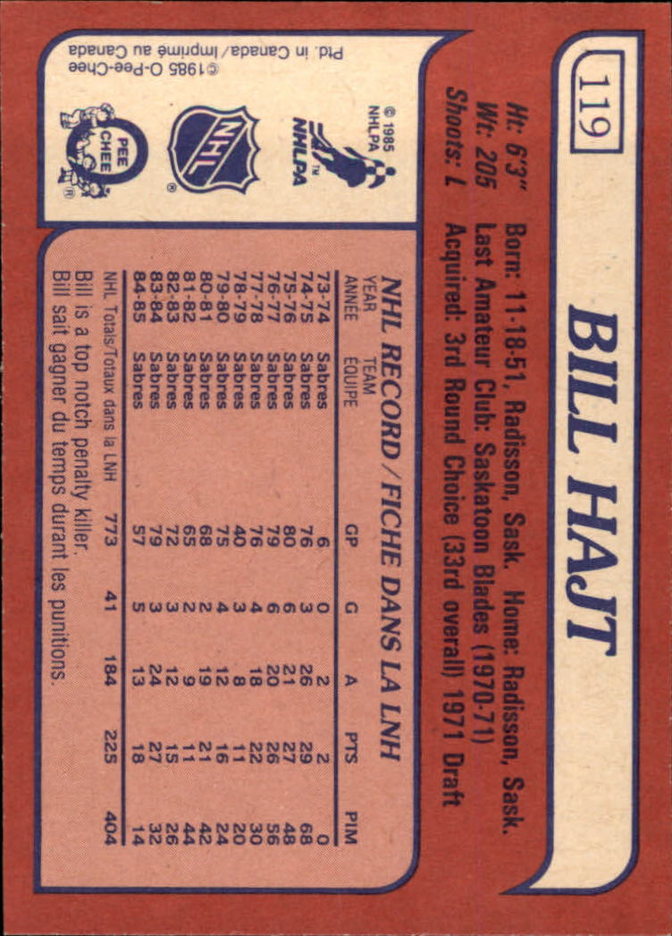 1985-86-Topps-Hockey-Base-Singles-Pick-Your-Cards thumbnail 109