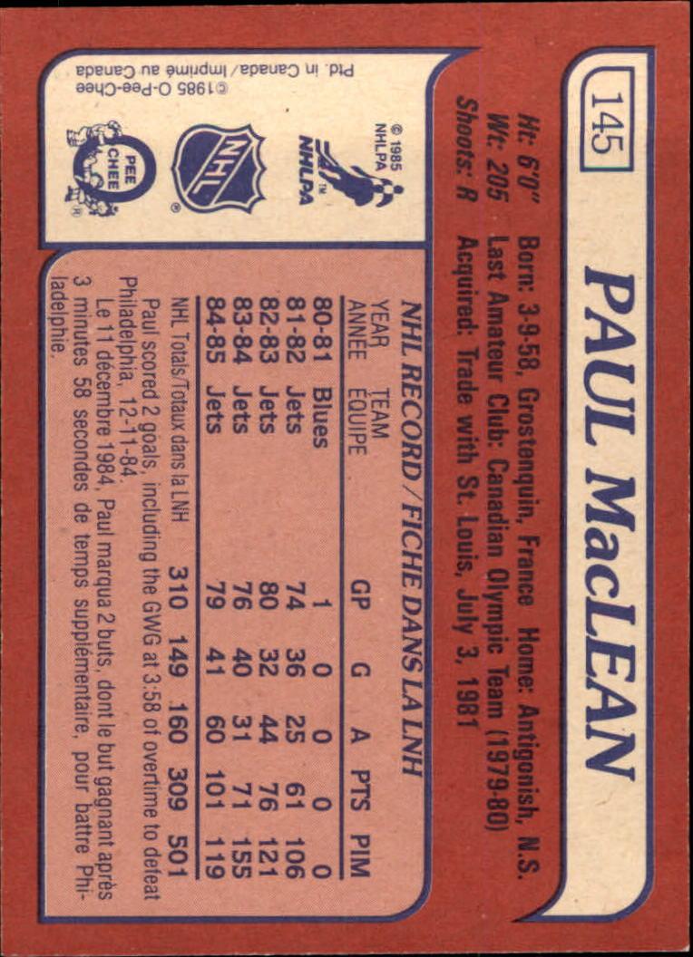 1985-86-Topps-Hockey-Base-Singles-Pick-Your-Cards thumbnail 127
