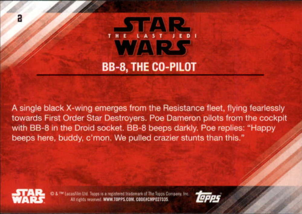 Star Wars Last Jedi Red Parallel Base Card #32 BB-4